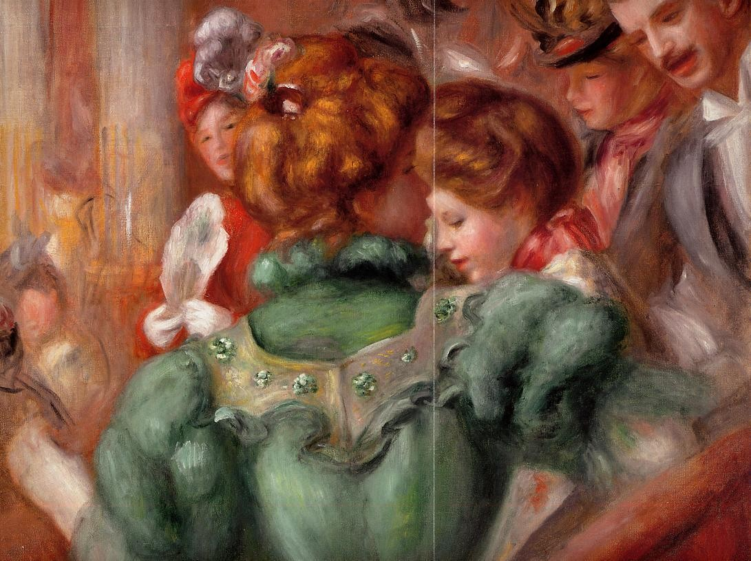 A box in the Theater des Varietes, 1898, Pierre Auguste Renoir